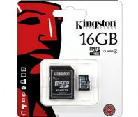 MEM-SDC4/16G Tarjeta de memoria micro SD-HC 16Gb + adaptador Kingston
